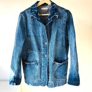 Vintage Wash Denim Worker Jacket